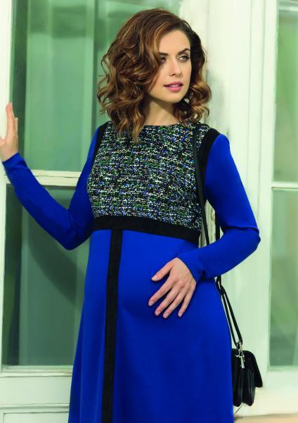 Буду мамой синее платье